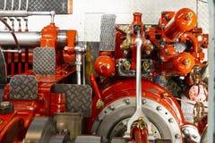 De machineruimte van Loetschberg van de peddelstoomboot royalty-vrije stock afbeeldingen