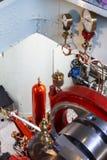 De machineruimte van Loetschberg van de peddelstoomboot royalty-vrije stock afbeelding