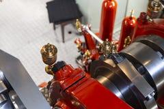 De machineruimte van Loetschberg van de peddelstoomboot royalty-vrije stock foto's