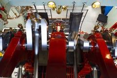 De machineruimte van Loetschberg van de peddelstoomboot royalty-vrije stock foto
