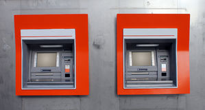 De machines van ATM stock foto