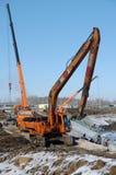 De machines van de bouw stock afbeeldingen