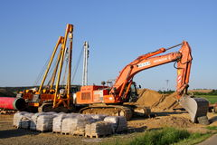 De machines van de bouw Stock Foto's