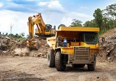 De machines van de mijnbouw royalty-vrije stock foto's