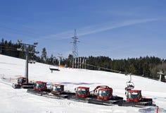 De machines van de sneeuw stock foto's