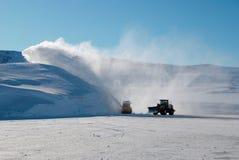 De machines van de sneeuw Stock Afbeeldingen