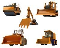 De machines van de weg Royalty-vrije Stock Afbeeldingen