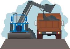 De machines van de wegenaanleg stock illustratie