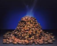 De macht binnen de koffie. Stock Foto's