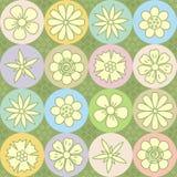 De macht van de bloem herhaalt patroon (naadloze achtergrond) Royalty-vrije Stock Foto's