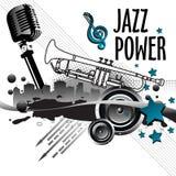 De macht van de jazz Stock Afbeeldingen