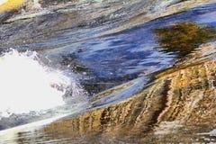 De macht van de stroom van de waterlente Royalty-vrije Stock Afbeeldingen