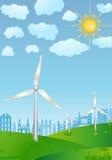 De macht van de wind vector illustratie