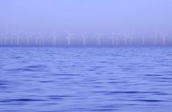 De macht van de wind in de winter Stock Fotografie