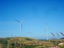 De macht van de windturbine in KhaoKho in Phetchabun, Thailand Stock Afbeeldingen