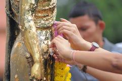 De macht van geloof, Thailand Stock Fotografie