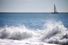 De Macht van golven Stock Foto's