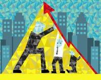 De macht van Groepswerk in bedrijf Stock Afbeelding