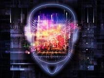 De macht van hersenen Royalty-vrije Stock Afbeeldingen