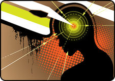 De macht van hersenen Stock Afbeelding