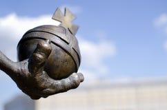 De macht van het monarchiesymbool Stock Foto
