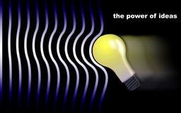 De macht van ideeën stock afbeeldingen