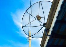 De macht van satellietschotel Royalty-vrije Stock Foto's