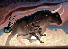 De macht van Stier stock illustratie