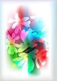 De machtsachtergrond van de bloem Stock Afbeelding