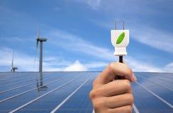 De machtsconcept van Eco stock afbeeldingen