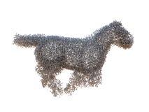 De machtsconcept van het paard vector illustratie