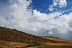 De machtsgeneratie van de wind Stock Foto