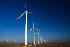 De machtsgenerators van de wind stock afbeelding