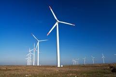 De machtsgenerators van de wind Stock Afbeeldingen