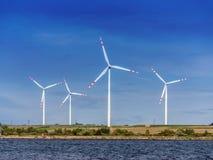 De machtsgenerators van de wind Royalty-vrije Stock Foto's