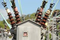 De machtskabels van de elektriciteit royalty-vrije stock foto's