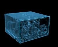 De machtslevering van PC ATX vector illustratie