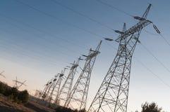 De machtslijn van de pyloon en van de transmissie Royalty-vrije Stock Fotografie