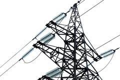 De machtslijnen van de hoogspanning en grote pyloon Royalty-vrije Stock Foto