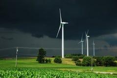 De machtsturbine van de wind stock foto