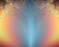 De macro blauwe gebroken koude van de ijstextuur stock foto