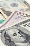 De macro van bankbiljetten Stock Afbeeldingen