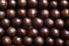 De macro van chocoladeballen Stock Afbeeldingen