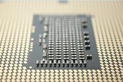 De macro van cpu Stock Foto