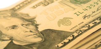 De macro van de dollar stock foto's
