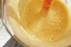 De macro van de koffie frappe Stock Foto's