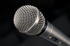 De Macro van de microfoon Stock Afbeelding