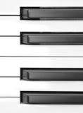 De Macro van de Sleutels van de piano royalty-vrije stock fotografie