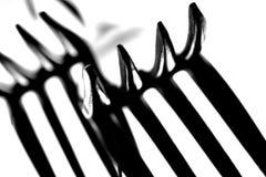 De Macro van de Tanden van de vork Royalty-vrije Stock Foto's