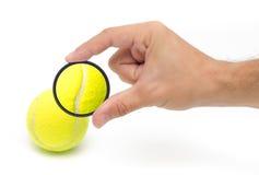 De macro van de tennisbal Royalty-vrije Stock Foto's
